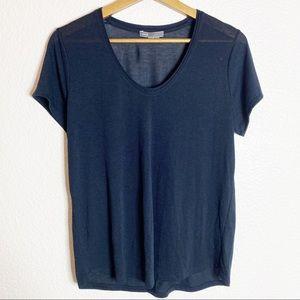Vince- Navy Blue Short Sleeve Tee Shirt- M